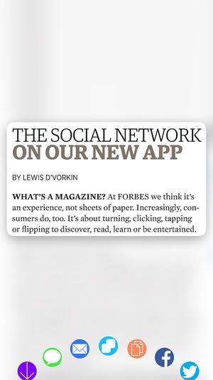 Screenshot Forbes Magazine on iPhone