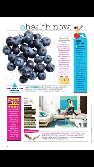 Screenshot Good Health Magazine on iPhone