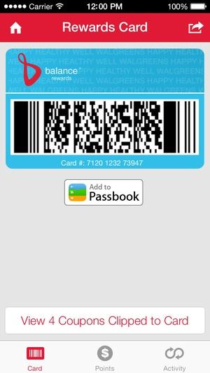 Screenshot Walgreens on iPhone