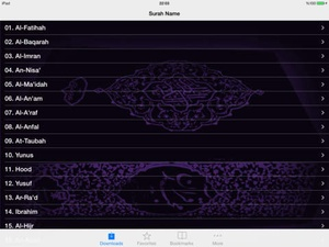 Screenshot Quran Mishary Rashid Alafasy on iPad