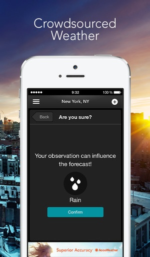 Screenshot MinuteCast by AccuWeather – minute on iPhone
