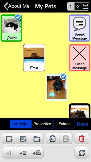 Screenshot Proloquo2Go  on iPhone