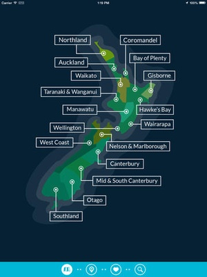 Screenshot NZ Tides on iPad