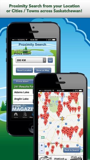Screenshot iFish Saskatchewan on iPhone