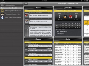 Screenshot Pittsburgh Baseball Live on iPad