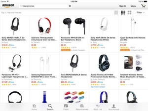 Screenshot Amazon App on iPad