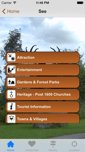 Screenshot Monaghan Tourism on iPhone