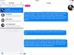 Screenshot Jelly SMS Free on iPad