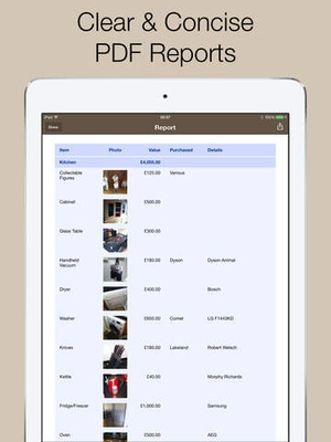 Screenshot Home Contents on iPad