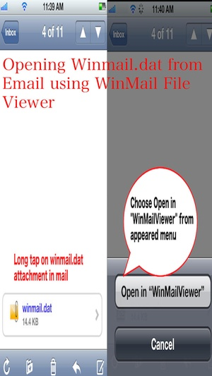 Screenshot Winmail Viewer for iPhone 6, iPhone 6 Plus, iPad Air & iPad Mini on iPhone