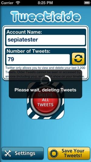 Screenshot Tweeticide on iPhone