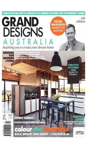 Screenshot Grand Designs Australia Magazine on iPhone