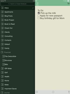 Screenshot SnapEntry on iPad