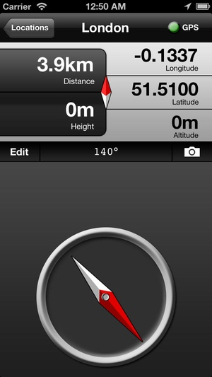 Screenshot GPS Compass Lite on iPhone