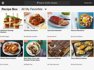 Screenshot Food Network In the Kitchen on iPad
