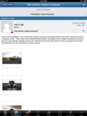 Screenshot Bimmerforums.com on iPad