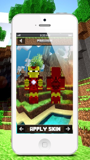Screenshot Skins for Minecraft: Super Hero Edition on iPhone