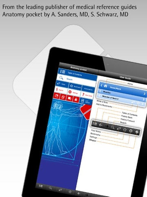 Screenshot Anatomy pocket on iPad