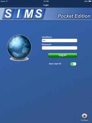 Screenshot SIMS Pocket on iPad