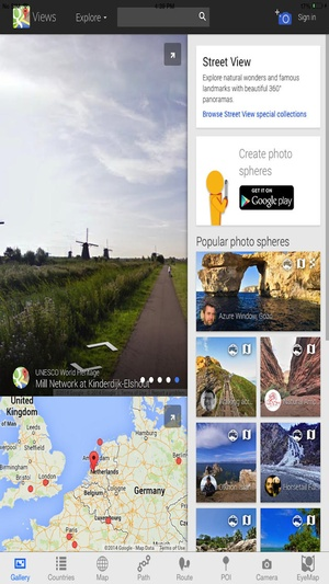 Screenshot Street View with Camera Maps, Places Search, Route & Track path finder on iPhone