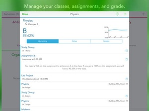 Screenshot Study Cal on iPad