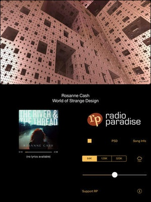 Screenshot Radio Paradise 3.0 on iPad
