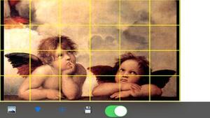 Screenshot Artists Grid Tool on iPhone