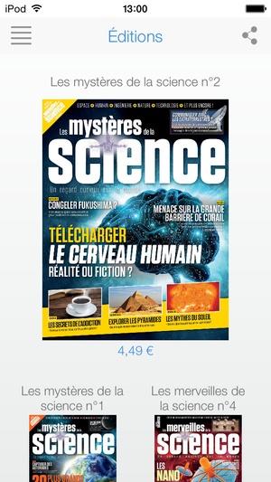 Screenshot Les Mystères de la Science on iPhone