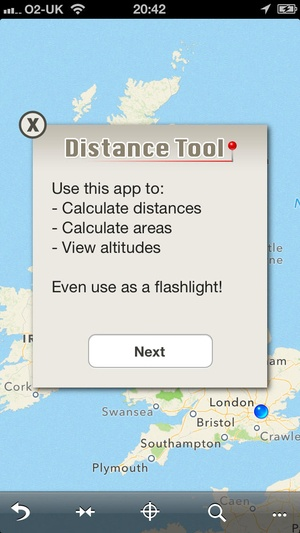 Screenshot Distance Tool on iPhone