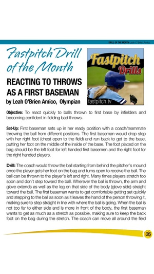 Screenshot Fastpitch Softball Magazine on iPhone