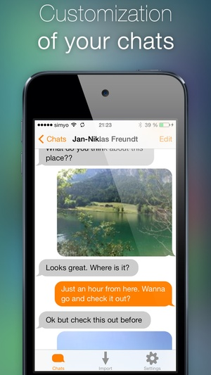 Screenshot Password for WhatsApp Messages on iPhone