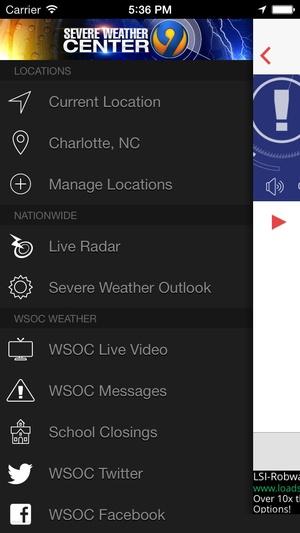 Screenshot WSOC on iPhone