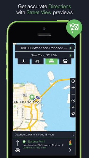 Screenshot Earth Maps: GPS, Directions, Places, Street View, Latitude & Longitude Coordinates on iPhone