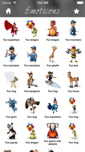 3D Emoji Characters Stickers for WhatsApp, Kik, LINE, BBM