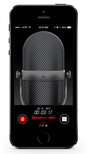 Screenshot Awesome Voice Recorder Pro on iPhone
