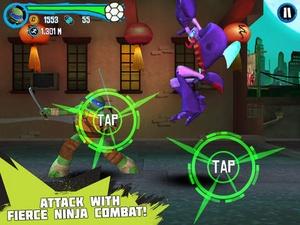 Screenshot Teenage Mutant Ninja Turtles: Rooftop Run on iPad