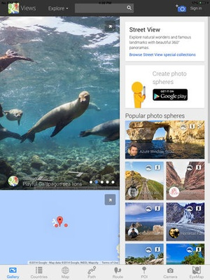 Screenshot Street View with Camera Maps, Places Search, Route & Track path finder on iPad