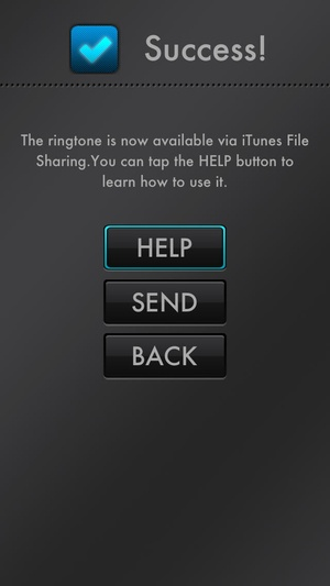 Screenshot Ringtone Maker on iPhone