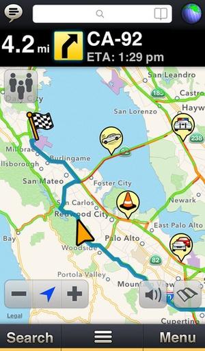 Screenshot MotionX GPS Drive on iPhone