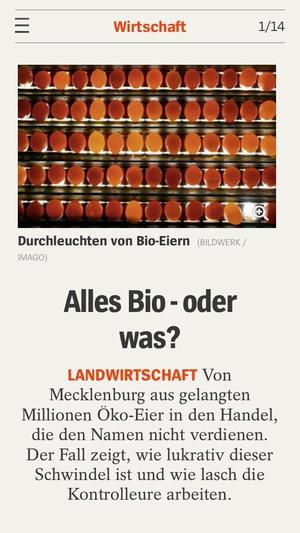 Screenshot DER SPIEGEL on iPhone