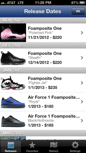 Screenshot Foams on iPhone