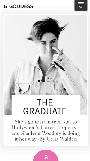 Screenshot Glamour Magazine (UK) on iPhone