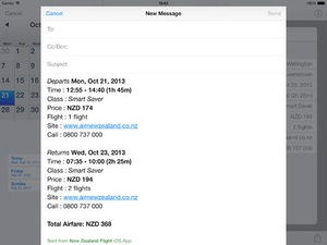 Screenshot New Zealand Flight Free on iPad