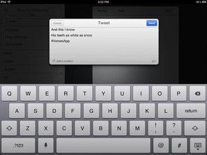 Screenshot Verses notebook + rhyming dictionary on iPad