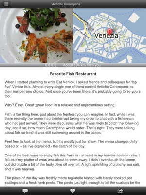 Screenshot Eat Venice on iPad