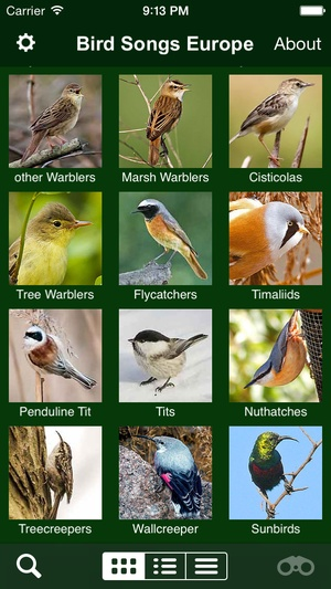 Screenshot BIRD SONGS of Europe, North Africa and the Middle East on iPhone