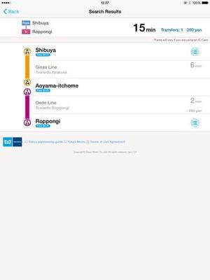 Screenshot Tokyo Subway Navigation for Tourists on iPad
