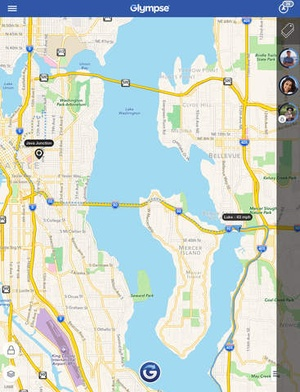 Screenshot Glympse on iPad