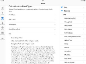 Screenshot Pocket Wine Pairing on iPad
