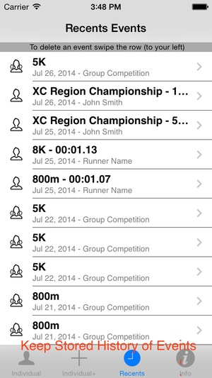 Screenshot StopWatch for Cross Country & Road Races on iPhone